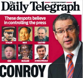 The Daily Telegraph's reaction to Labor's media reforms. Image: News Limited.